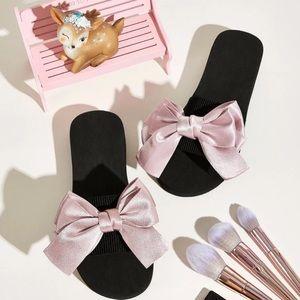 🌺 NEW/. Bow Decor Open Toe Sliders